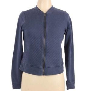 Columbia Blue Harper Quilted Bomber Jacket